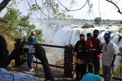Tourism to the Victoria Falls provides a source of revenue for Zambia