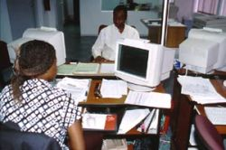 Increasing national revenues (photo: value added tax office in Maputo) reduces Mozambique's donor dependence