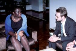 The Finance Minister of Mozambique in a policy dialogue with the Swiss representative