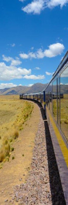 A tourist train through the Andean highlands (Peru)